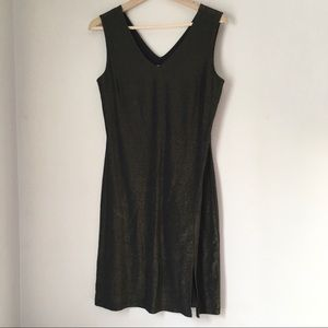 VINTAGE SLITTED BODYCON DRESS